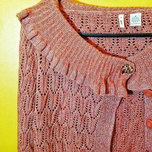 Anthropologie Moth Wool Blend Cardigan Sweater M